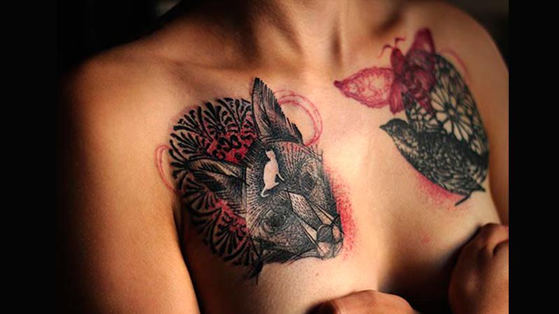 Un tatuaje que cubra el cáncer de mama