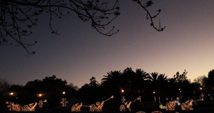 El espectáculo de luces en Puebla